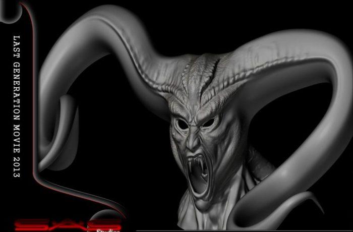3D Demon Head Artwork
